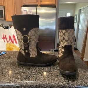 Coach Brown Signature print Boots/Booties